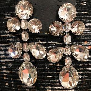 NWT $150 Kenneth Jay Lane Crystal Drop Earrings